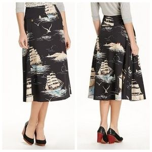 Leifnotes | Anthropologie Sail Away Circle Skirt